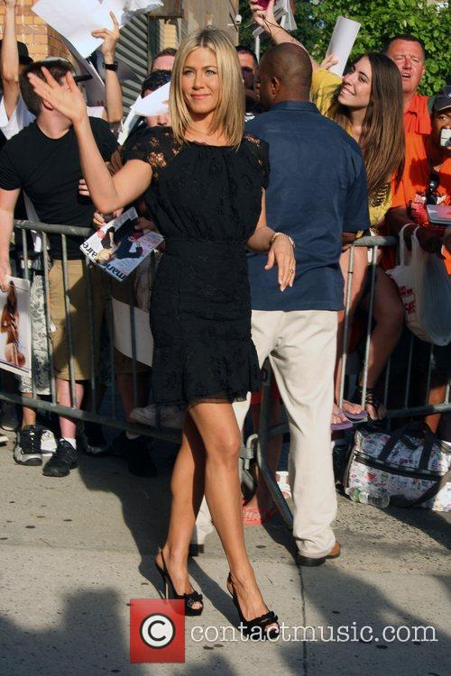 Jennifer Aniston outside the Comedy Central studios for...