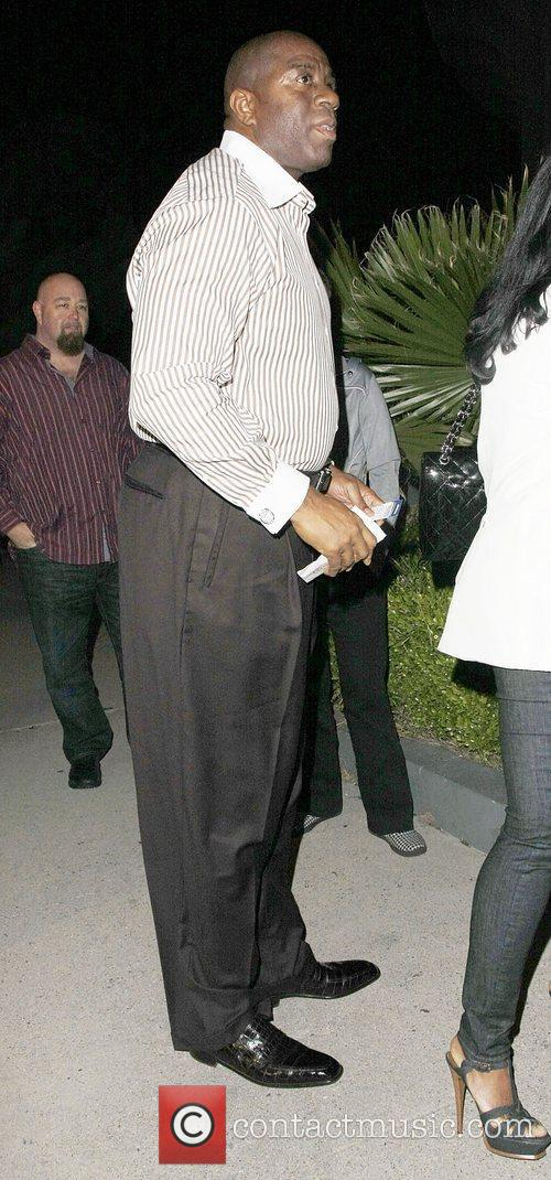 Ex-NBA star, Magic Johnson Celebrities attending a Prince...