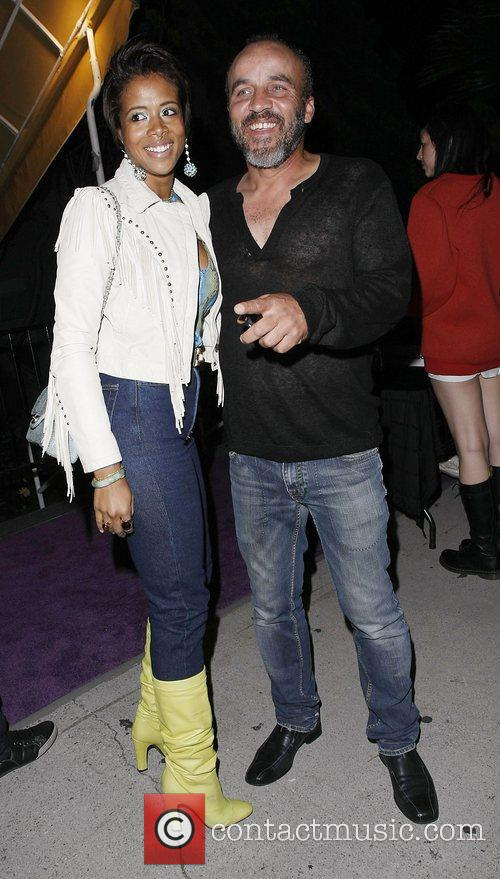Kelis and guest Celebrities attending a Prince concert...