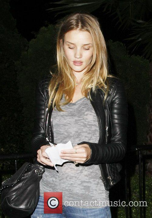 Rosie Huntington-Whiteley Celebrities attending a Prince concert at...