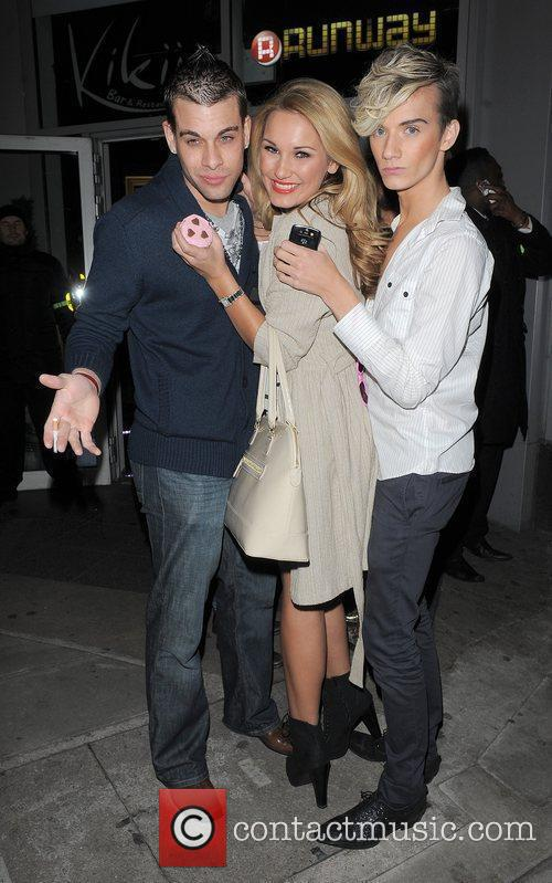 Samantha Faiers and Harry Derbidge leaving Runway nightclub....