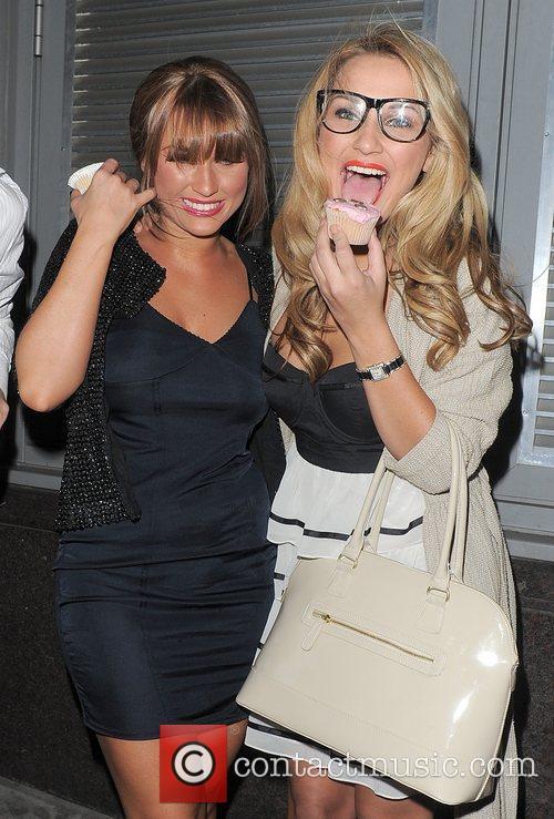 Billie Faiers and Samantha Faiers leaving Runway nightclub....