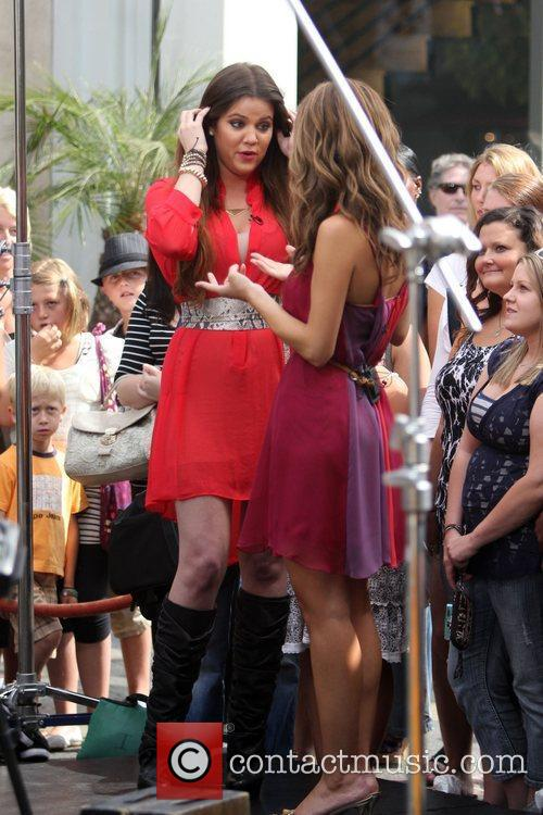 Khloe Kardashian Celebrities at The Grove to film...