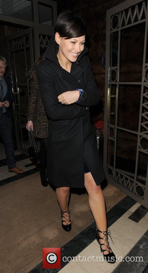 Emma Willis leaving the Westbury Hotel. London, England
