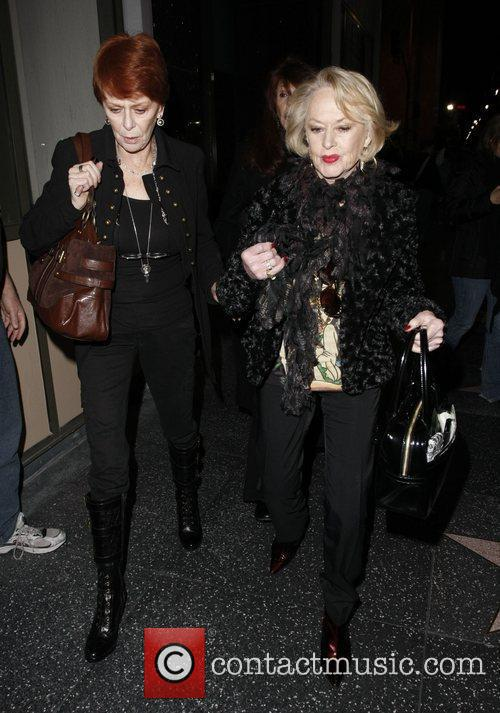 Tippi Hedren and Guest attends 'Avenue Q' at...