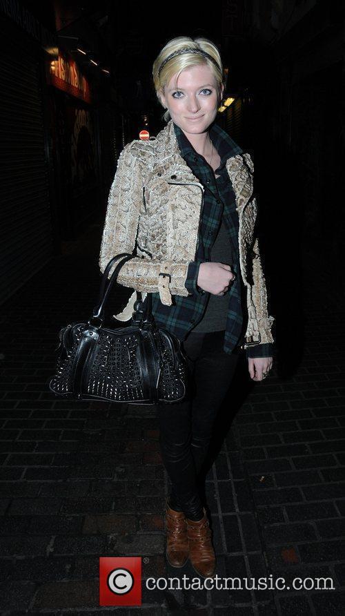 Sophie Sumner leaving The Box Nightclub in London...