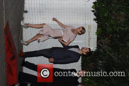 Diane Kruger, Joshua Jackson Celebrities arriving a for...