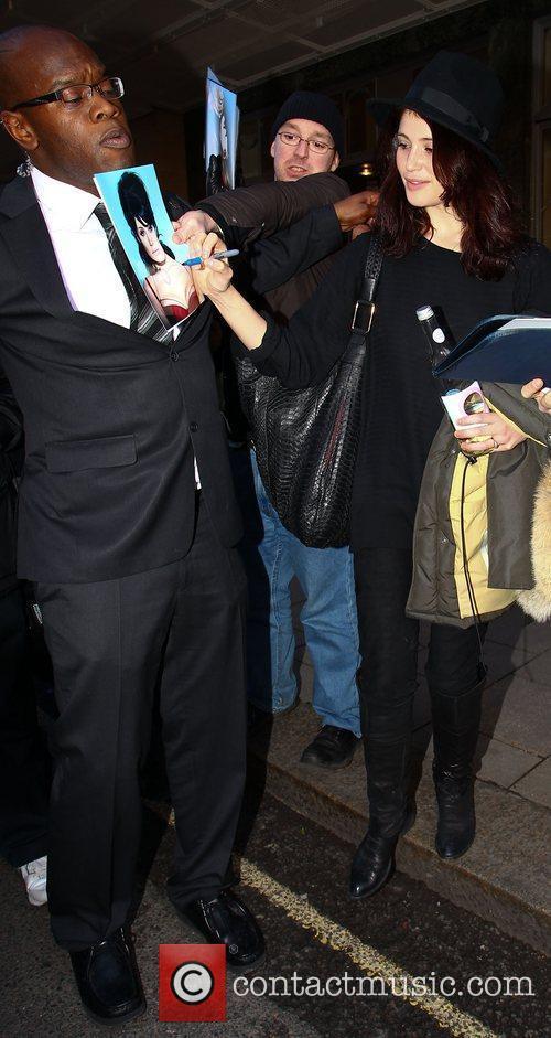 Celebrities outside Claridges hotel