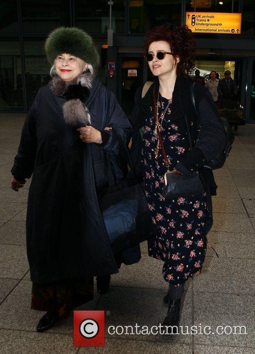 Helena Bonham Carter and her mother Elena arriving...