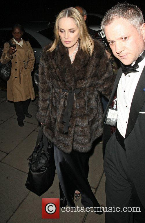 Sharon Stone,  returning to their hotel after...