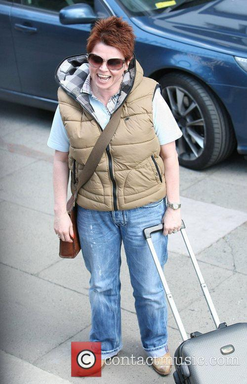 Ursula Holden-Gill Celebrities outside the ITV television studios...