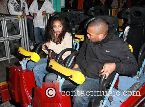 Logan Browning and Darnell Appling at Knott's Berry...