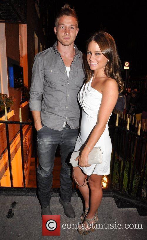 Will Matthews and girlfriend Jodie Wood Celebrities outside...