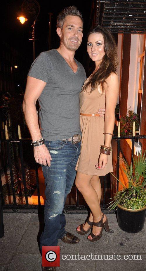 Dave Murphy and his girlfriend Laura Scanlon Celebrities...