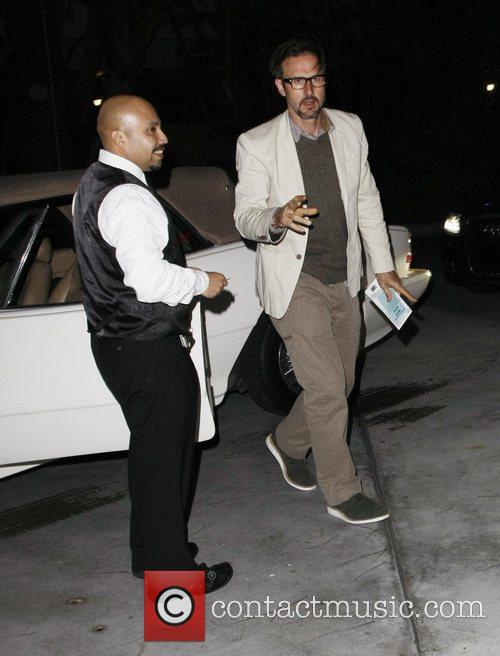 David Arquette arriving at the LA Lakers game...
