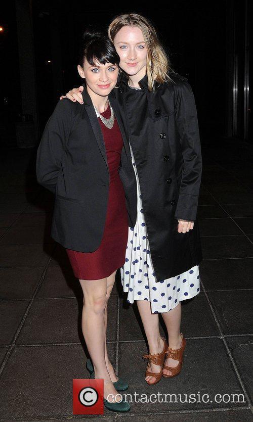 Charlene McKenna and Saoirse Rona outside the RTE...