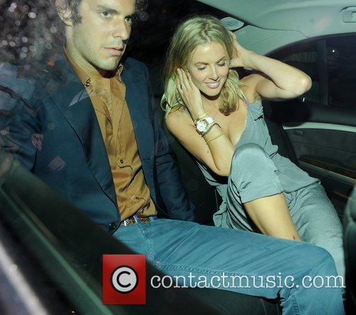 Donna Air leaving Mahiki club with a friend...