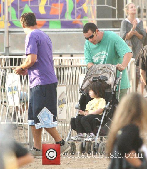 Adam Sandler and his daughter sending a day...