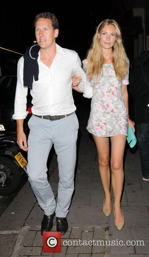 Brendan Cole and Zoe Hobbs Celebrities outside the...
