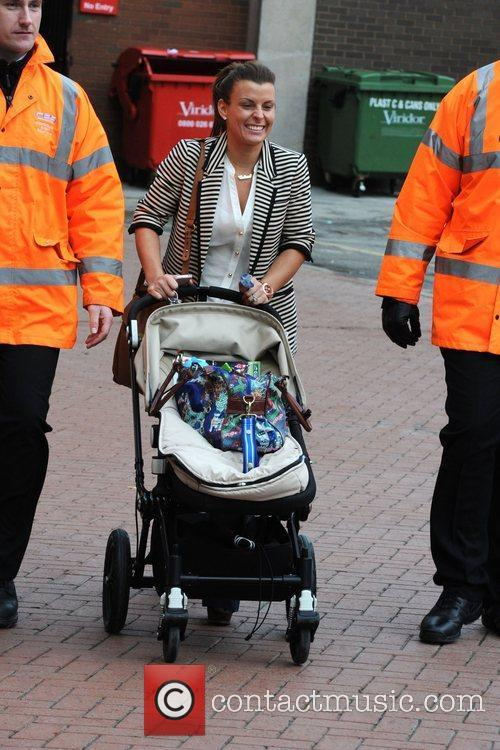 Coleen Rooney  leaving Old Trafford after watching...