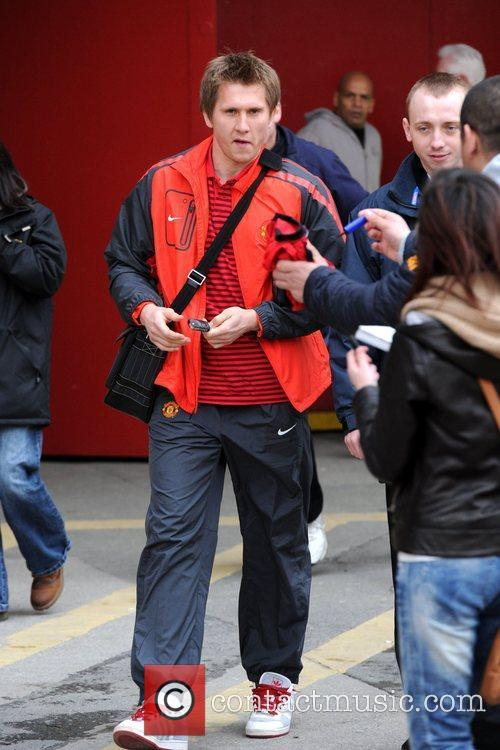 Thomas Kusack leaving Old Trafford after watching the...