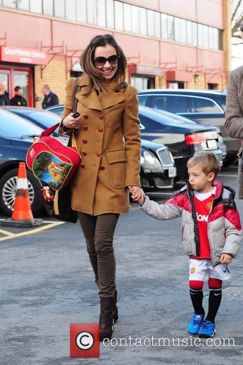 Ana Vidic  arrives at Old Trafford with...