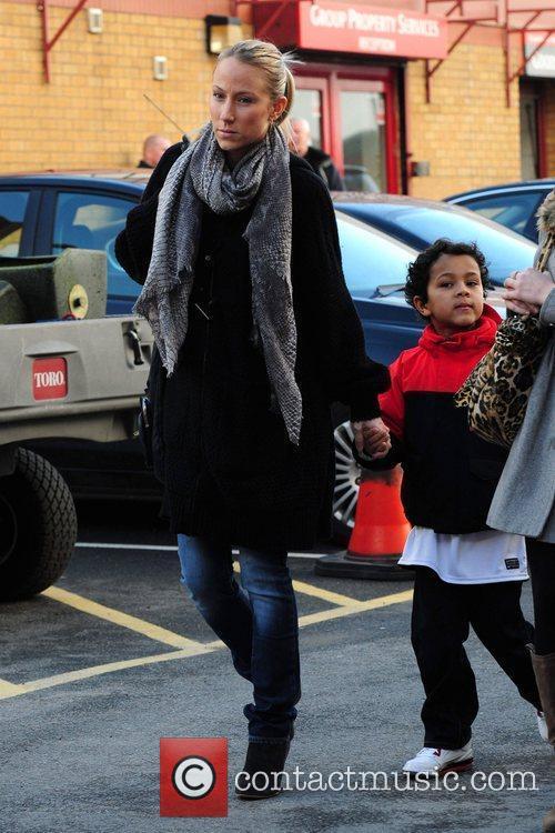 Sandra Evra  arrives at Old Trafford to...