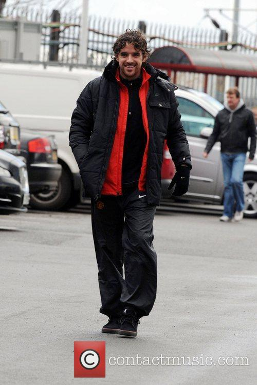 Owen Hargreaves arrives at Old Trafford to watch...