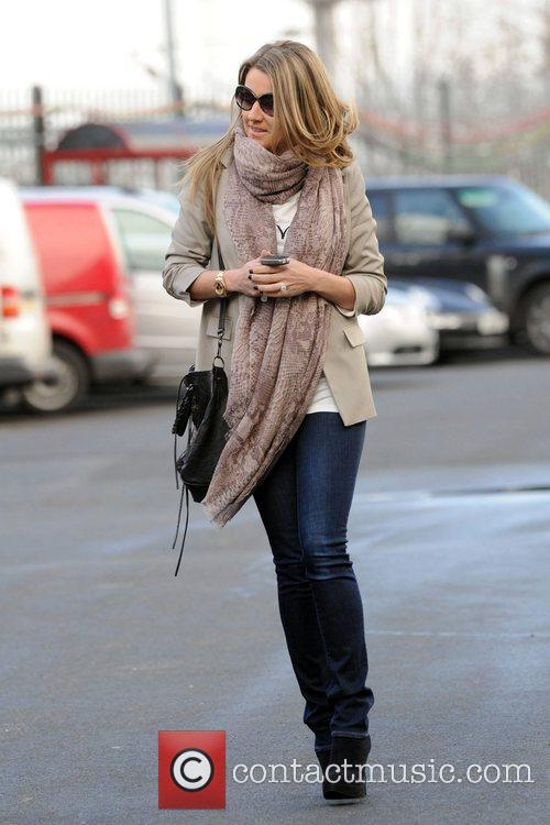 Hayley Fletcher arrives at Old Trafford to watch...