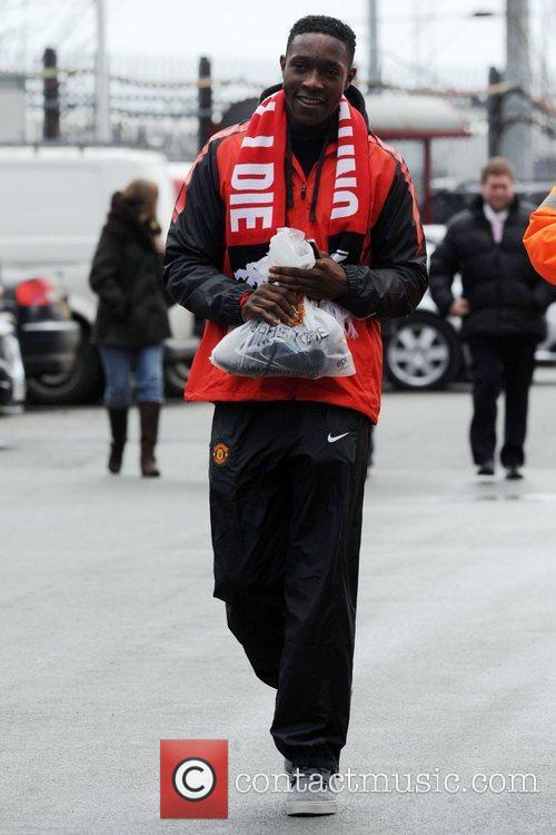 Danny Welbeck arrives at Old Trafford to watch...