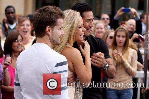 Louis Van Amstel, Kendra Wilkinson and Mario Lopez 2