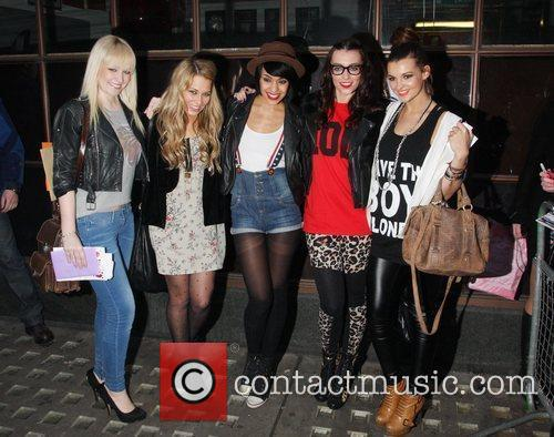 Girl group Parade outside the BBC Radio One...