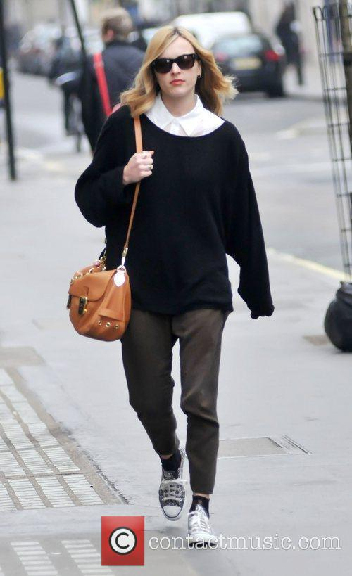 Fearne Cotton arriving at BBC Radio One studios...