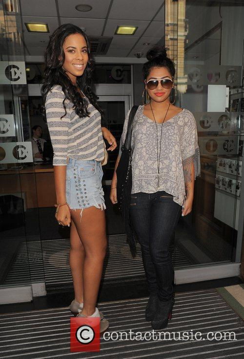 Rochelle Wiseman and Vanessa White from girl group...