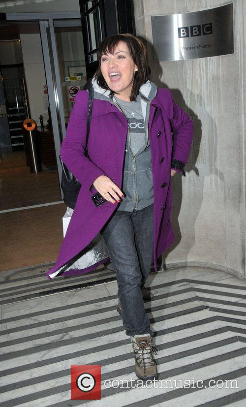 Lorraine Kelly Celebrities outside the BBC Radio Two...