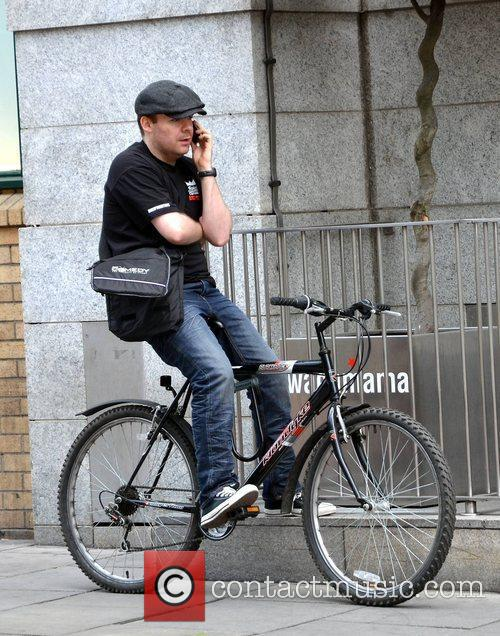 Neil Delamere out and about on a bicycle...