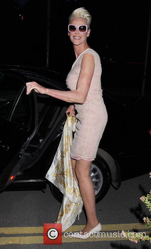 Brigitte Nielsen  outside RTE studios for an...