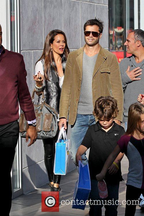 Brooke Burke, David Charvet David Charvet shopping at...