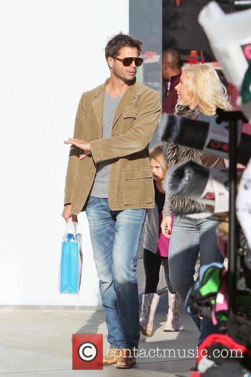 David Charvet  shopping at Century City Mall...