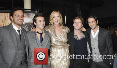 Jake M. Johnson, Michael Angarano and Uma Thurman 5
