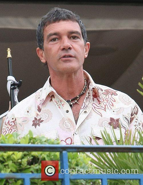 Antonio Banderas at Le Grand Journal during the...