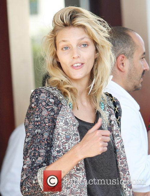 Anja Rubik Celebrities leaving the Martinez Hotel during...