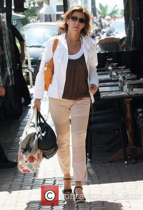 Corinne Touzet Celebrities leaving the Martinez Hotel during...