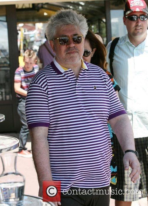 Pedro Almodovar Celebrities leaving the Martinez Hotel during...