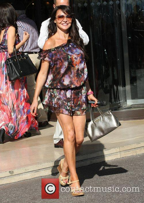 Lizzie Cundy Celebrities during the 2011 Cannes International...