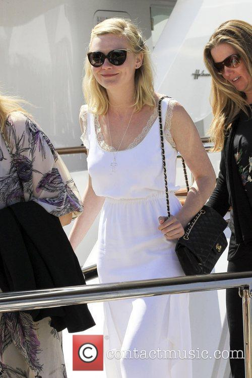 Departs a yacht in Cannes Marina during the...