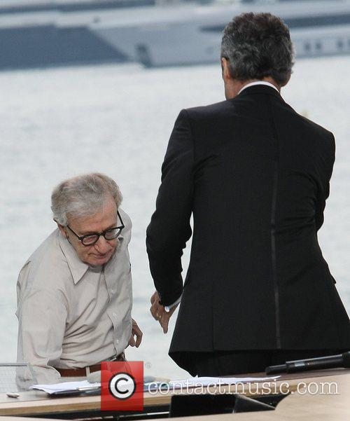 Michel Denisot with Woody Allen  on the...