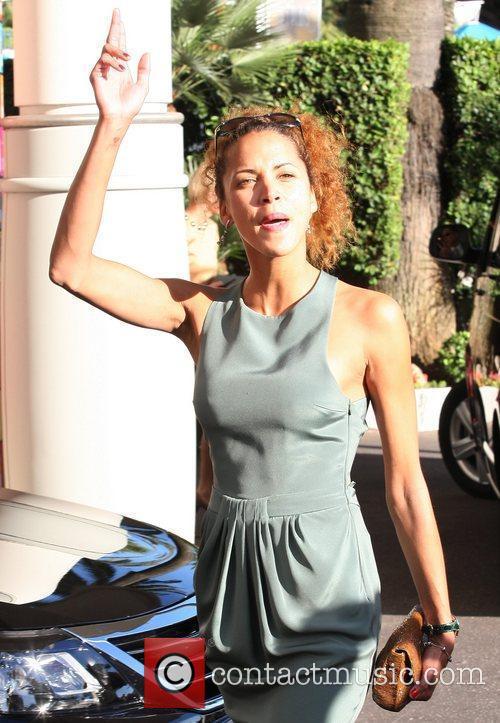 Noemie Lenoir Celebrities leaving the Martinez hotel during...