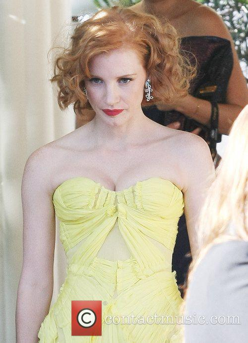 Jessica Chastain Celebrities leaving the Martinez hotel during...