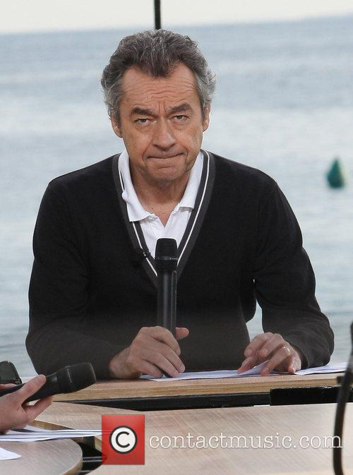 Michel Denisot presenting 'Le Grand Journal' in Cannes...